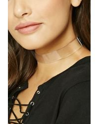 Forever 21 - Multicolor Clear Choker - Lyst