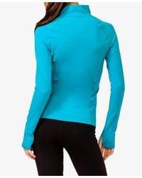 Forever 21 - Blue High Collar Running Jacket - Lyst
