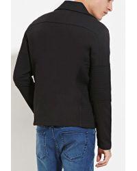 Forever 21 - Black Quilted Moto Jacket for Men - Lyst