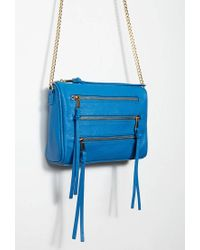 Forever 21 - Blue Faux Leather Zippered Crossbody - Lyst