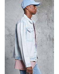 Forever 21 - Blue Faded Wash Denim Jacket for Men - Lyst