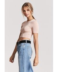 Forever 21 - Multicolor Women's Knit Crop Top - Lyst