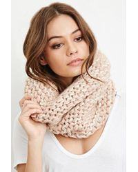 Forever 21 - Pink Purl Knit Snood - Lyst