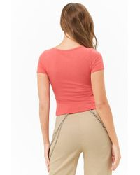 Forever 21 - Multicolor Ribbed Tulip Hem Top - Lyst