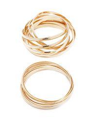 Forever 21 - Metallic Bangle Bracelet Set - Lyst