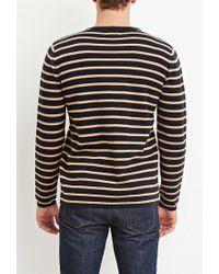 Forever 21 - Blue Stripe-patterned Cotton Tee for Men - Lyst