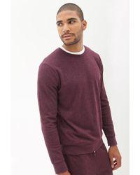 Forever 21 - Purple Classic Crew Neck Sweatshirt for Men - Lyst
