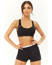 Forever 21 - Black Active Stretch-knit Shorts - Lyst
