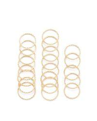 Forever 21 - Metallic Textured Ring Set - Lyst