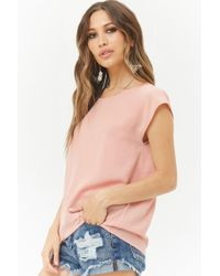 Forever 21 - Multicolor Chiffon Cap Sleeve Top - Lyst