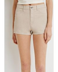 Forever 21 | Brown Zippered Denim Shorts | Lyst
