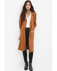 Forever 21 - Natural Belted Trench Coat - Lyst