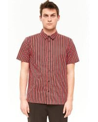 Forever 21 - Red 's Striped Button-front Shirt for Men - Lyst