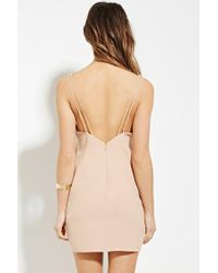Forever 21 - Natural Contemporary Mini Dress - Lyst