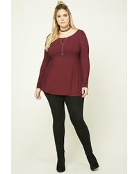 Forever 21 - Red Plus Size T-back Tunic - Lyst