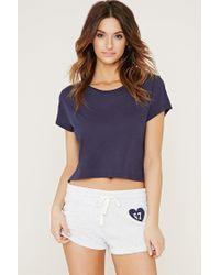 Forever 21 - Blue 67 Graphic Pyjamas Shorts - Lyst