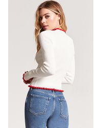 Forever 21 - White Contrast Mock Neck Sweater - Lyst