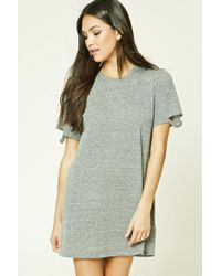 Forever 21 - Gray Mini T-shirt Dress - Lyst