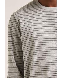 Forever 21 - Gray Striped Crew Neck Tee for Men - Lyst