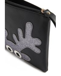Forever 21 | Black Faux Leather Reindeer Clutch | Lyst