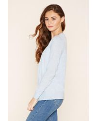 Forever 21 - Blue Classic V-neck Cardigan - Lyst