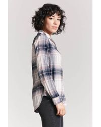 Forever 21 - Blue Check Button-front Shirt - Lyst