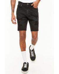 Forever 21 Black 's Distressed Denim Shorts for men