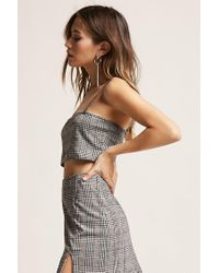 Forever 21 - Gray Motel Glen Plaid Crop Top - Lyst