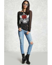 Forever 21 | Black Rock And Roll Graphic Tee | Lyst