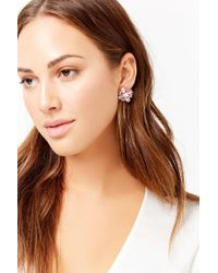 Forever 21 - Metallic Faux Crystal & Gem Stud Earrings - Lyst