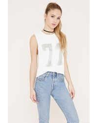 Forever 21 - Natural Graphic Pullover - Lyst