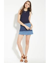 Forever 21 - Blue Contemporary Knit Top - Lyst