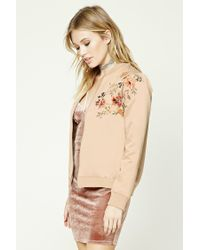 Forever 21 - Natural Contemporary Embroidered Jacket - Lyst