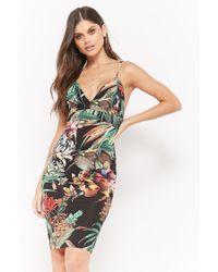 Forever 21 - Black Floral Tropic Cami Dress - Lyst