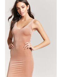 Forever 21 - Multicolor Velvet Tank Dress - Lyst