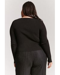 Forever 21 - Black Plus Size Caged Jumper - Lyst