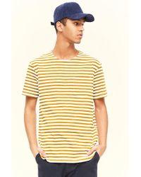 Forever 21 - Multicolor 's Striped Pocket Tee Shirt for Men - Lyst