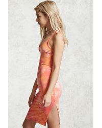 Forever 21 - Orange Tie-dye Cami Dress - Lyst