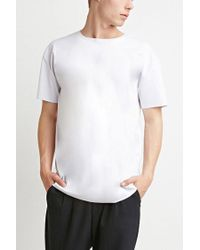 Forever 21 - White Raw-cut Tee - Lyst