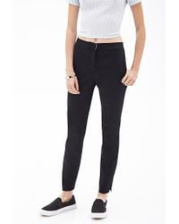 Forever 21 - Black Classic Woven Trousers - Lyst