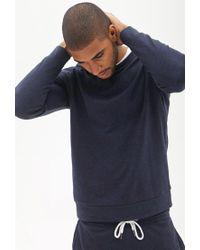 Forever 21 - Blue Classic Crew Neck Sweatshirt for Men - Lyst