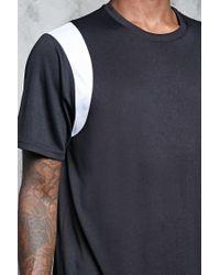 Forever 21 - Black Mesh Shoulder-trim Tee for Men - Lyst