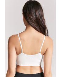 Forever 21 White Caged Cami Crop Top