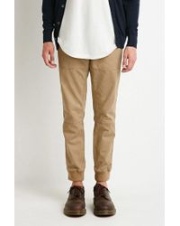 Forever 21 - Natural Paneled Chino Joggers for Men - Lyst