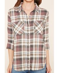 Forever 21 - Pink Check Flannel Shirt - Lyst