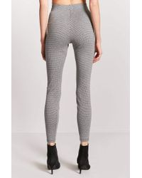 Forever 21 - Gray High-rise Houndstooth Pants - Lyst