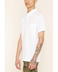 Forever 21 | White Flap-pocket Cotton Shirt for Men | Lyst