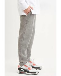 Forever 21 - Gray Drawstring Textured Knit Joggers for Men - Lyst