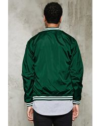 Forever 21 | Green Varsity-stripe Baseball Jacket for Men | Lyst