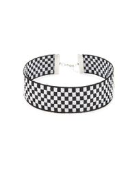 Forever 21 | Black Checkered Choker | Lyst
